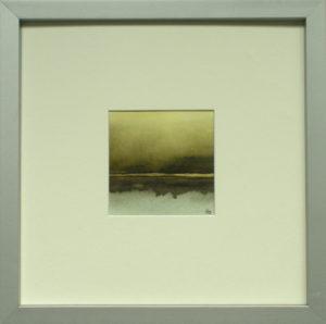 Abendstimmung I Aquarell 24 x 24 cm