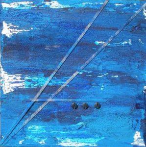 Azzurro Collage 30 x 30 cm