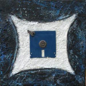 Bits und Bytes Objekt 30 x 30 cm