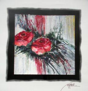 Rote Rosen Aquarell 50 x 70 cm.i.R