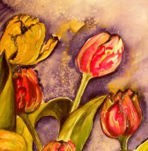 Tulpen Aquarell 25 x 25 cm i.R